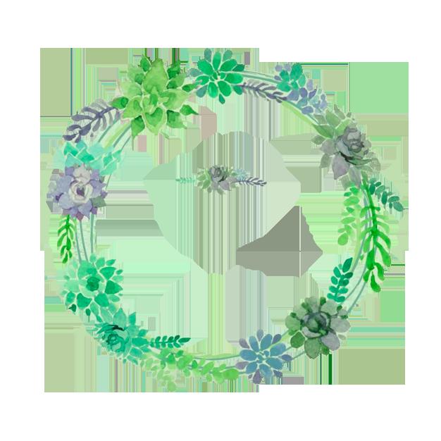 Green wreath flower clip. Clipart fruit garland