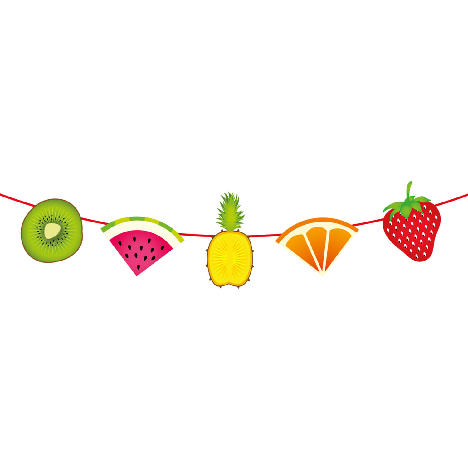 Tropical bunting m . Garland clipart fruit