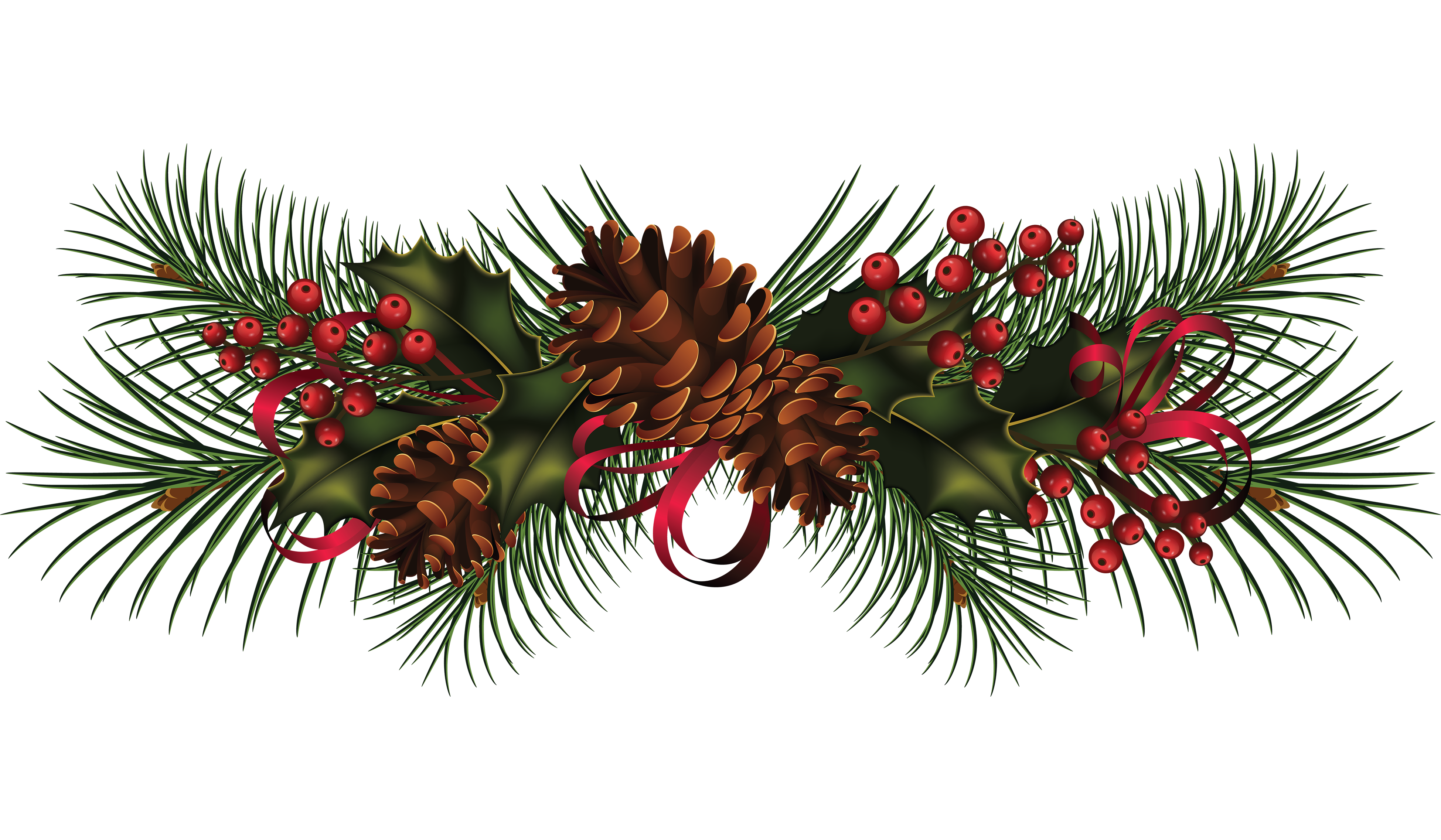 Wreath clip art pine. Garland clipart christmas tree garland
