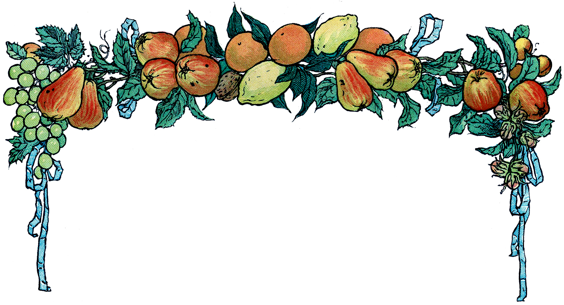 Garland clipart fruit. Free vintage image the