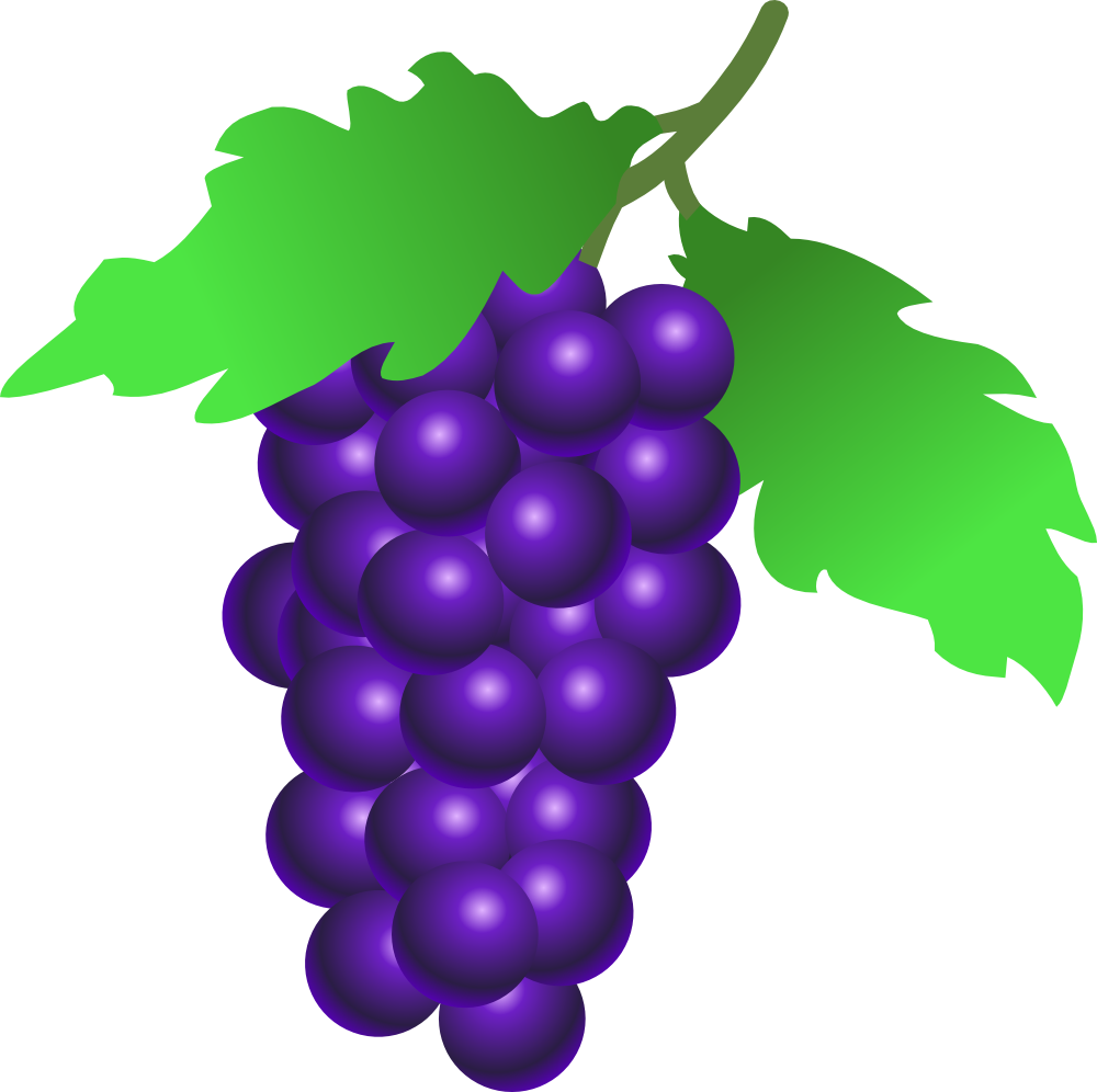 Fruit clipart grape. Onlinelabels clip art grapes