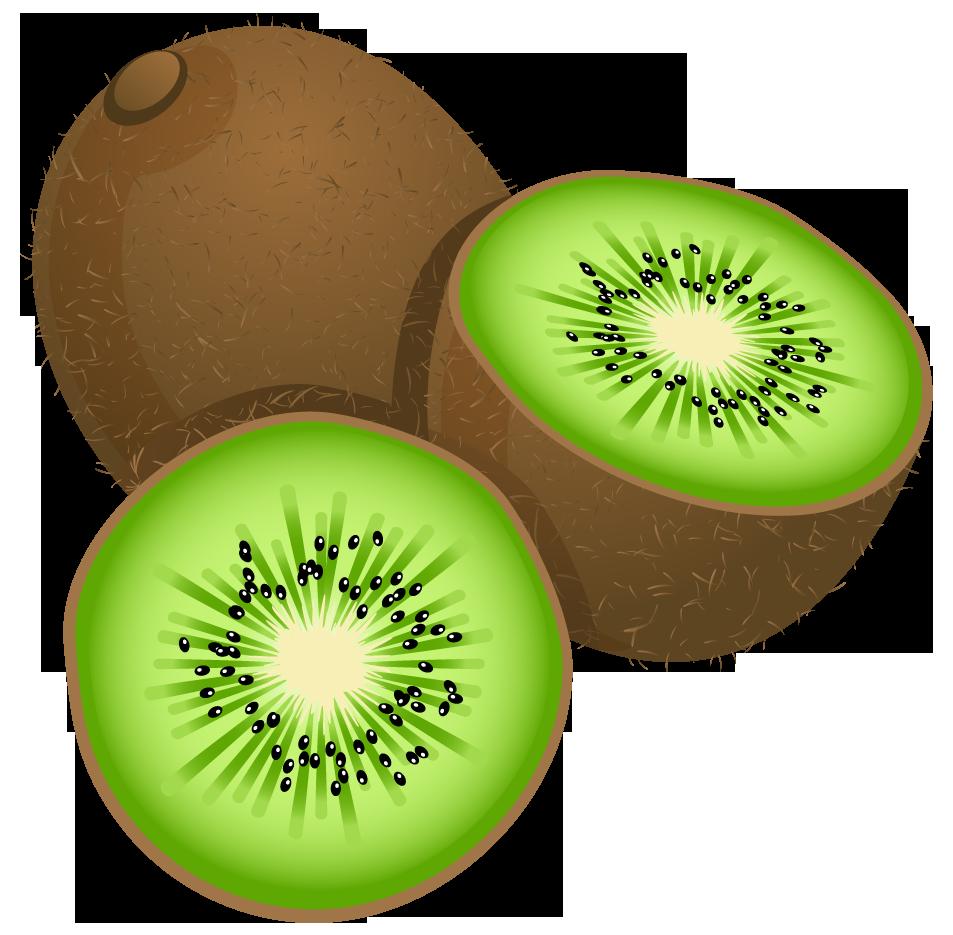 Kiwi clipart half. Large painted frut png