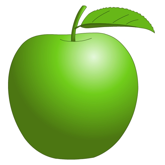 Free apple download clip. Fruits clipart green fruit