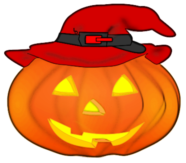 Hat clipart fruit. Jack o lantern wearing