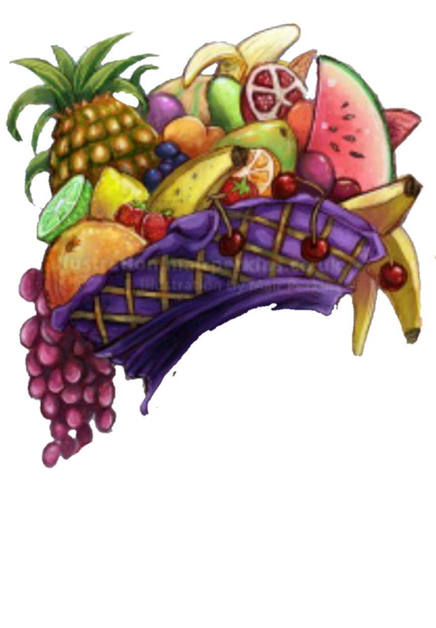Hat clipart fruit. Festive sticker by eevee