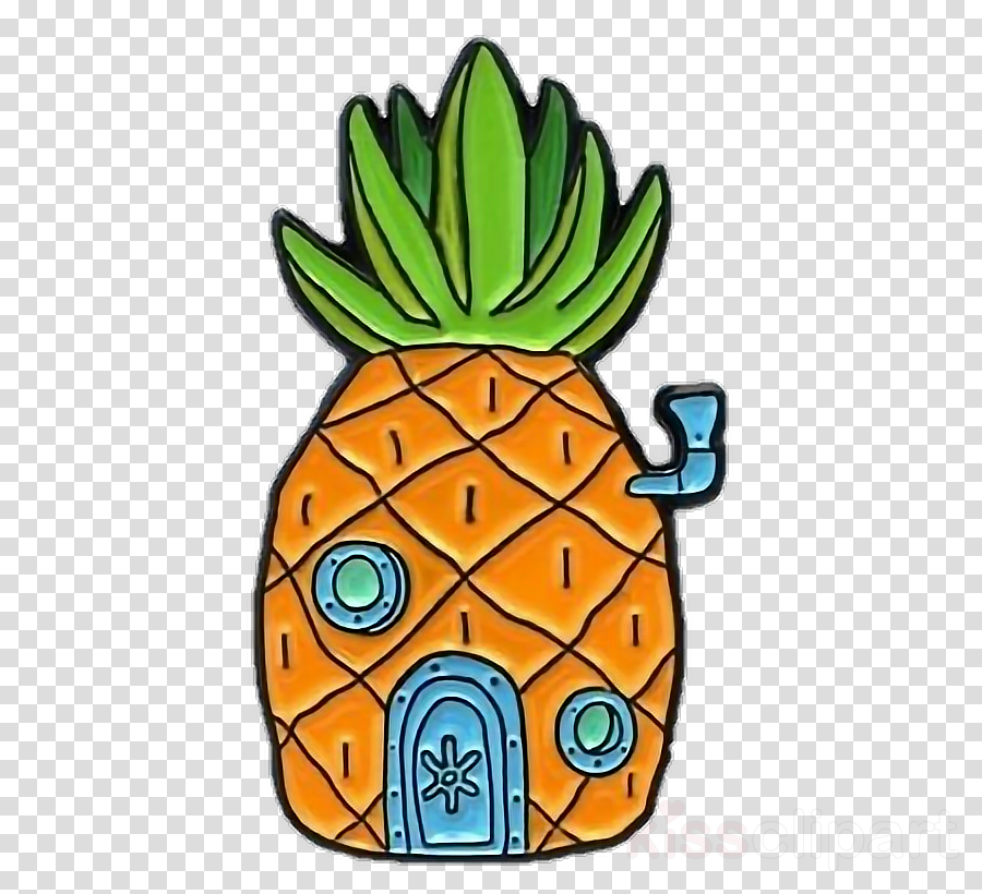 Cartoon drawing . Pineapple clipart house