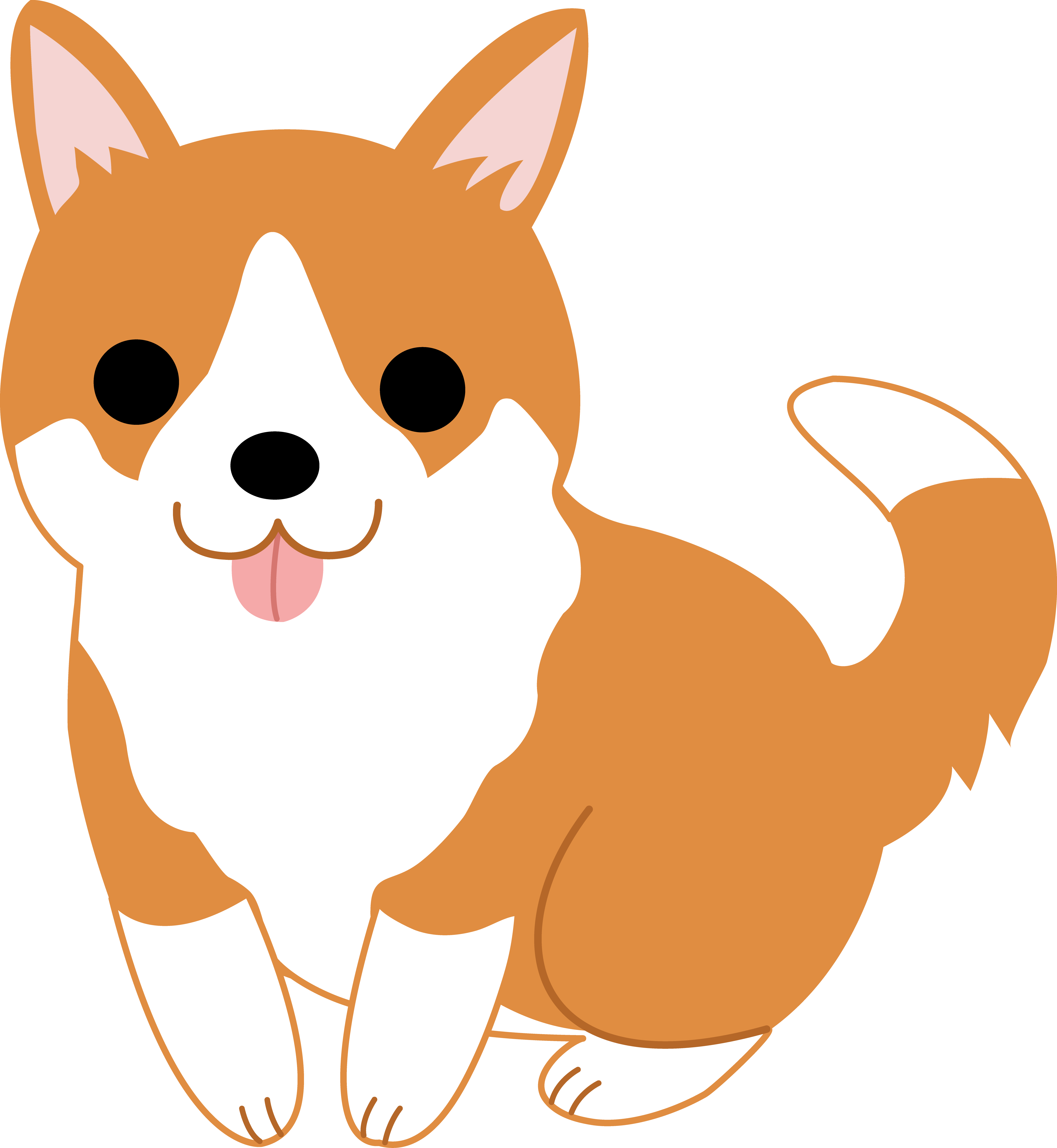 Husky clipart puppie.  collection of kawaii