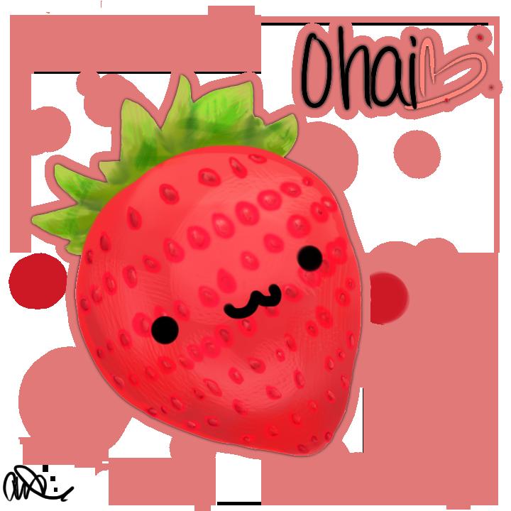 Strawberries clipart fun fruit. Kawaii strawberry by chibbur