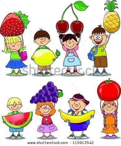 Fruit clipart kid. Pin on