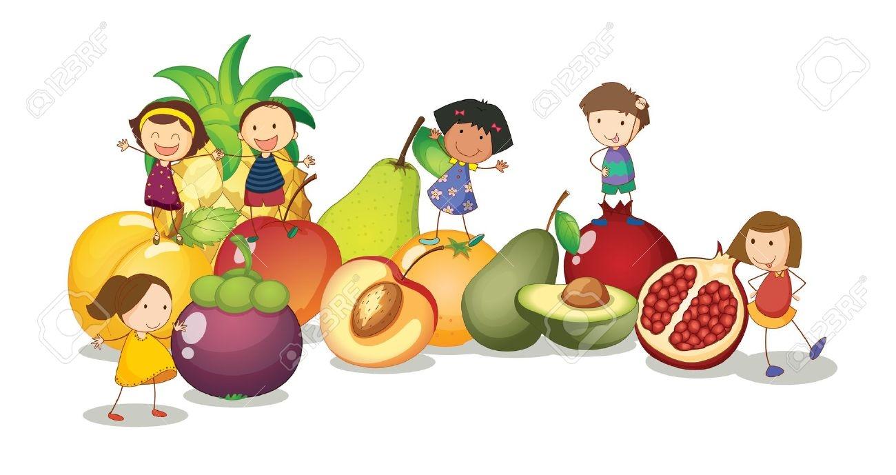 Eat Clipart Child Food - Kids Eating Cartoon, HD Png Download - kindpng