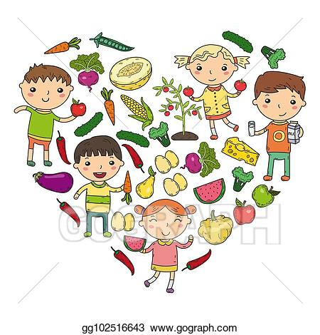 Healthy clipart healthy school. Eps vector kindergarten nursery
