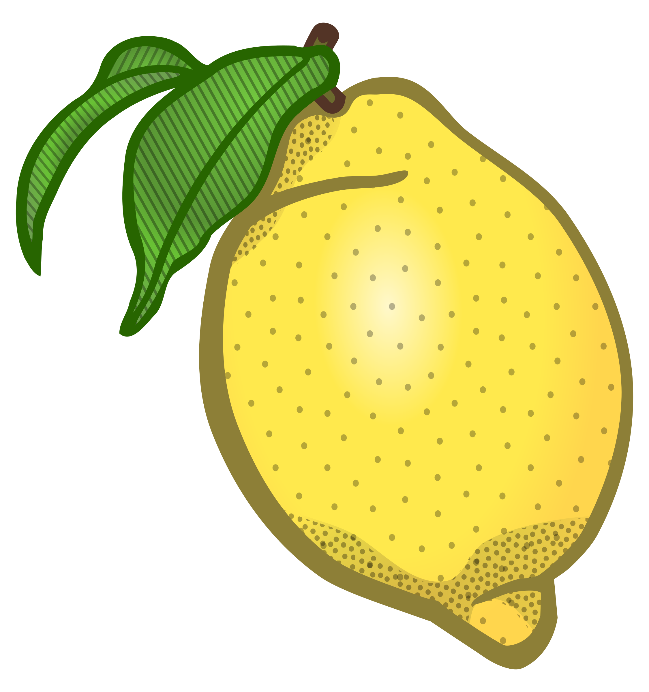 Lemons clipart vector. Lemon coloured big image