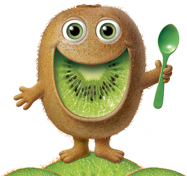 Kiwi man cute fruit. Future clipart space colony