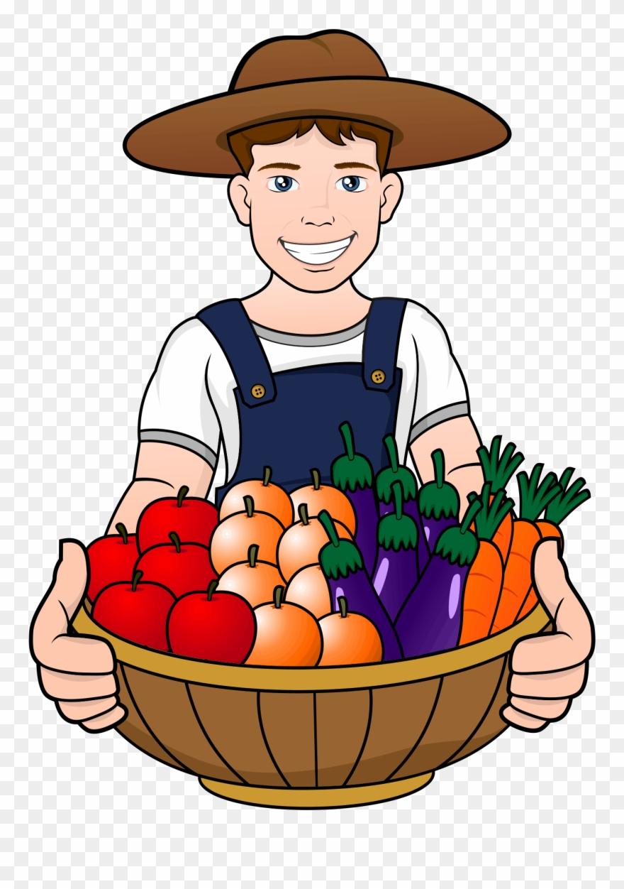 A men have fruits. Fruit clipart man