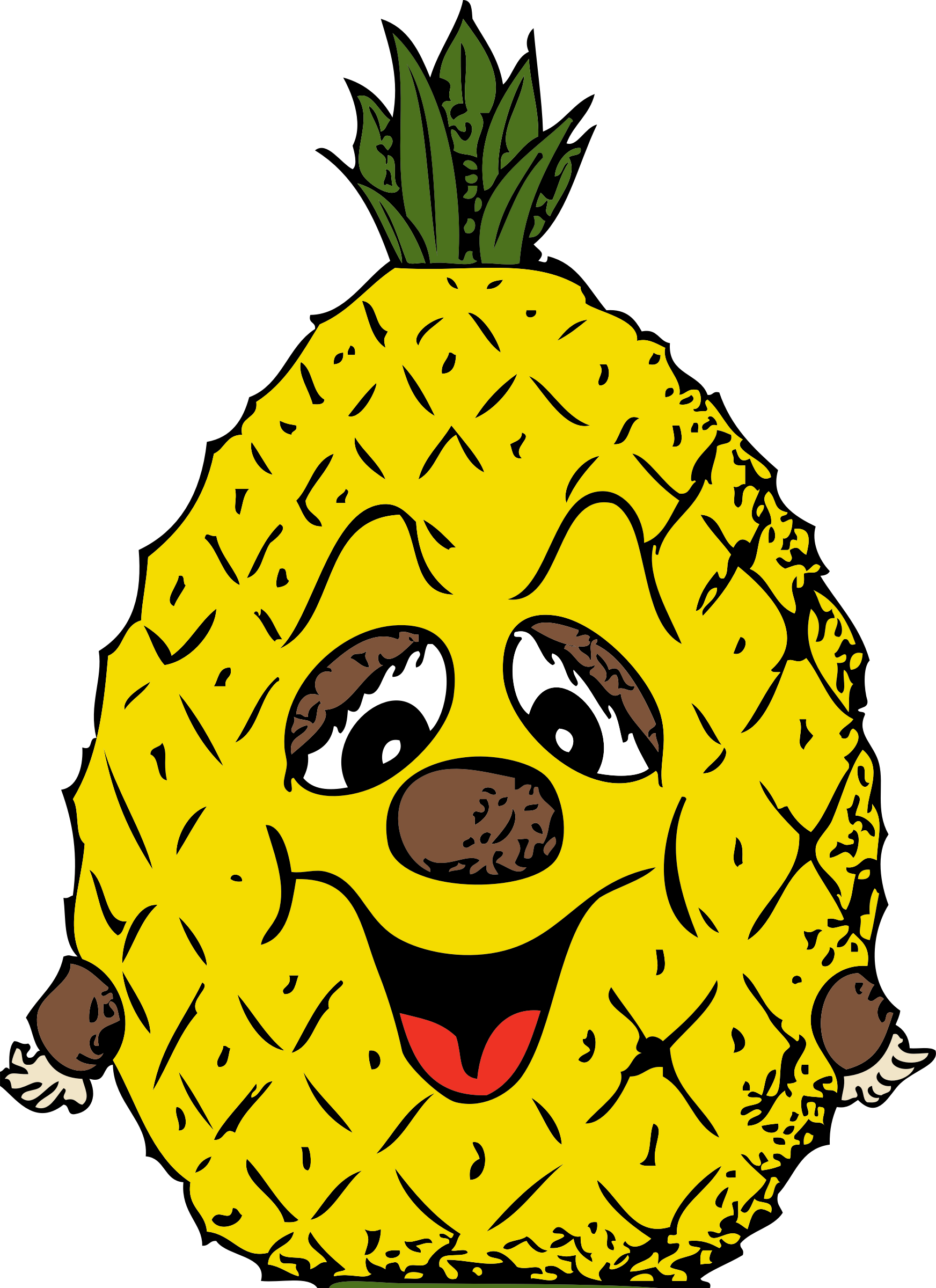 Head big image png. Pineapple clipart purple