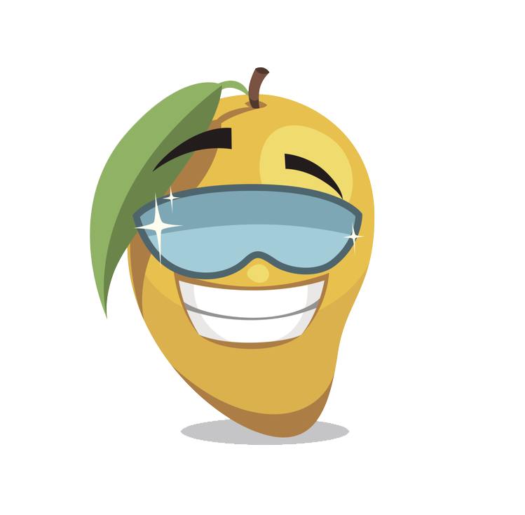 Pear clipart mango. Fruit cartoon clip art