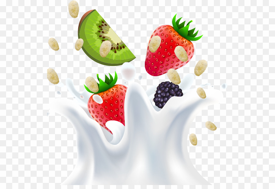 Clipart fruit milk. Png download free