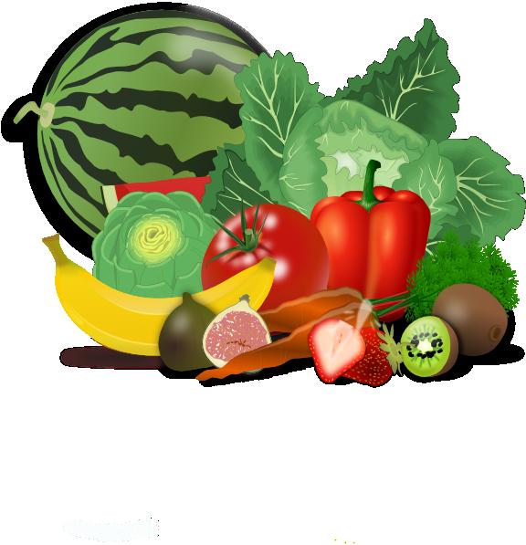 Vegetables clipart vector. Fruits veggies healthy clip
