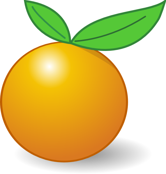 Clipart fruit orange. Clip art at clker