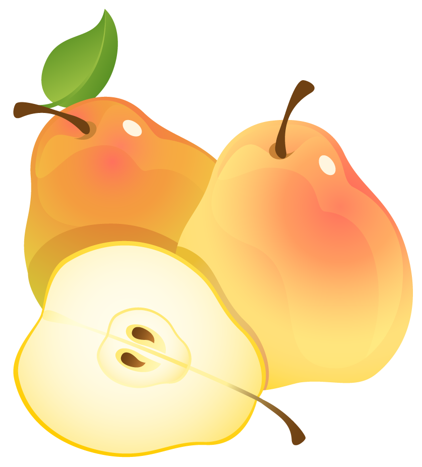 Fruits clipart orange. Large painted pears png