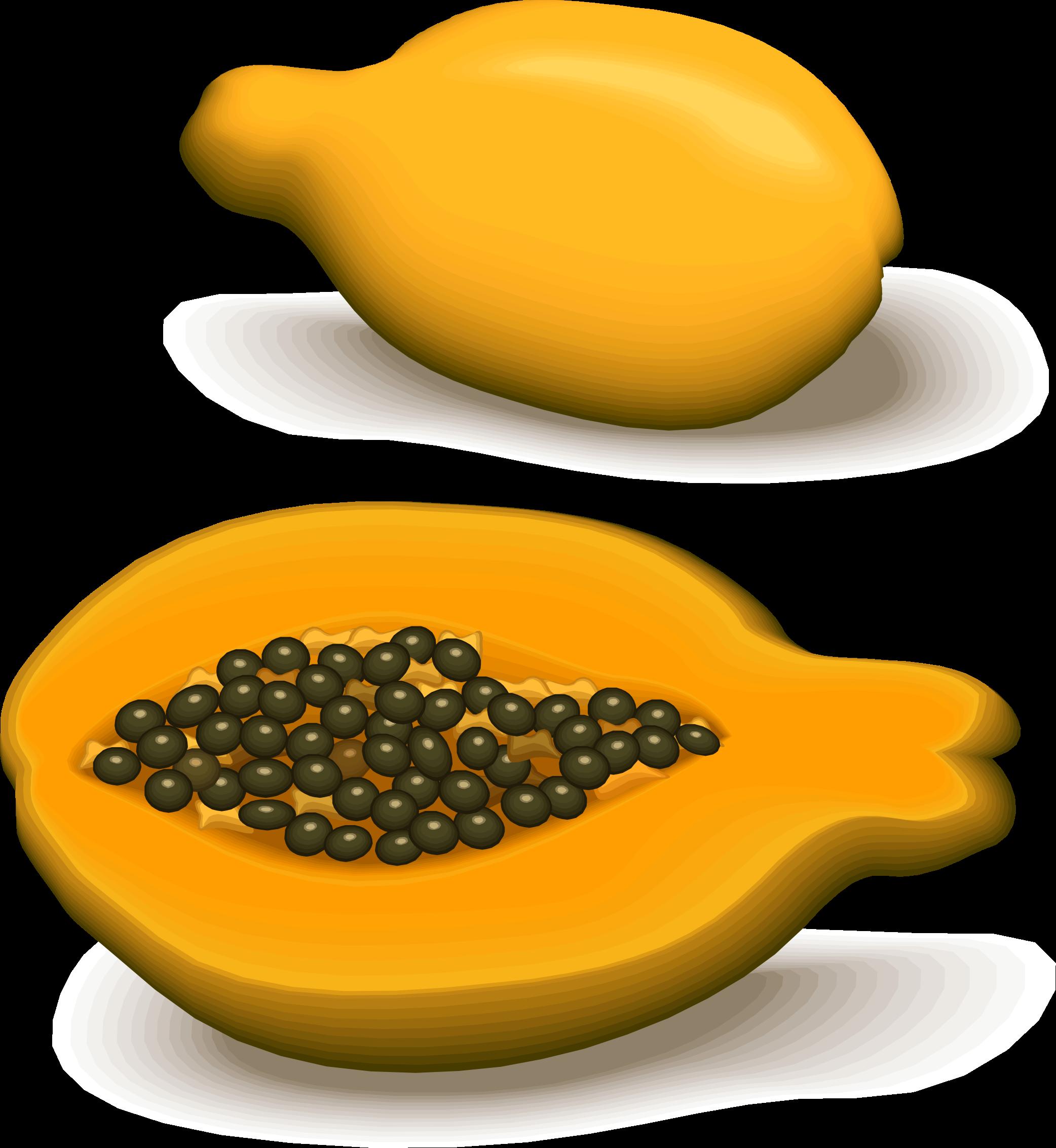 . Orange clipart papaya