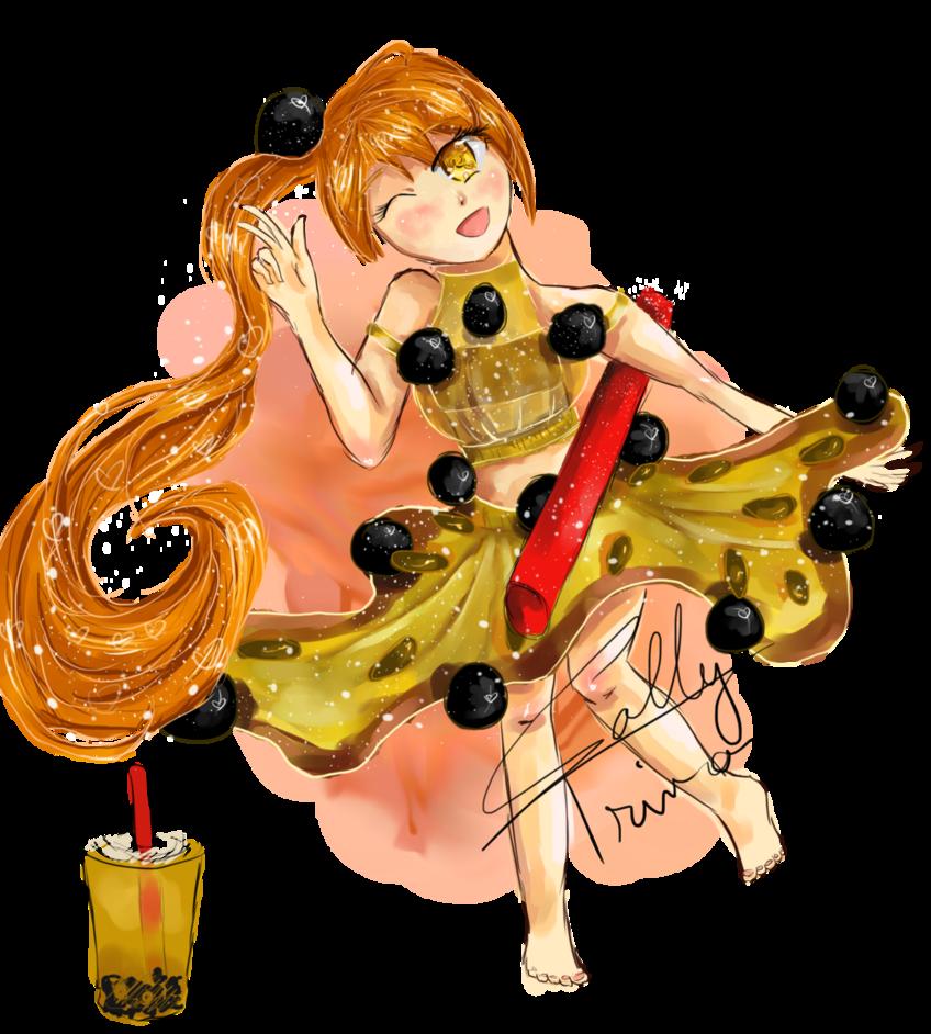 Clipart fruit passion fruit. Bubble tea girl by