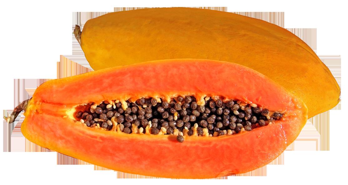 Tasty papaya png image. Fruits clipart paw paw