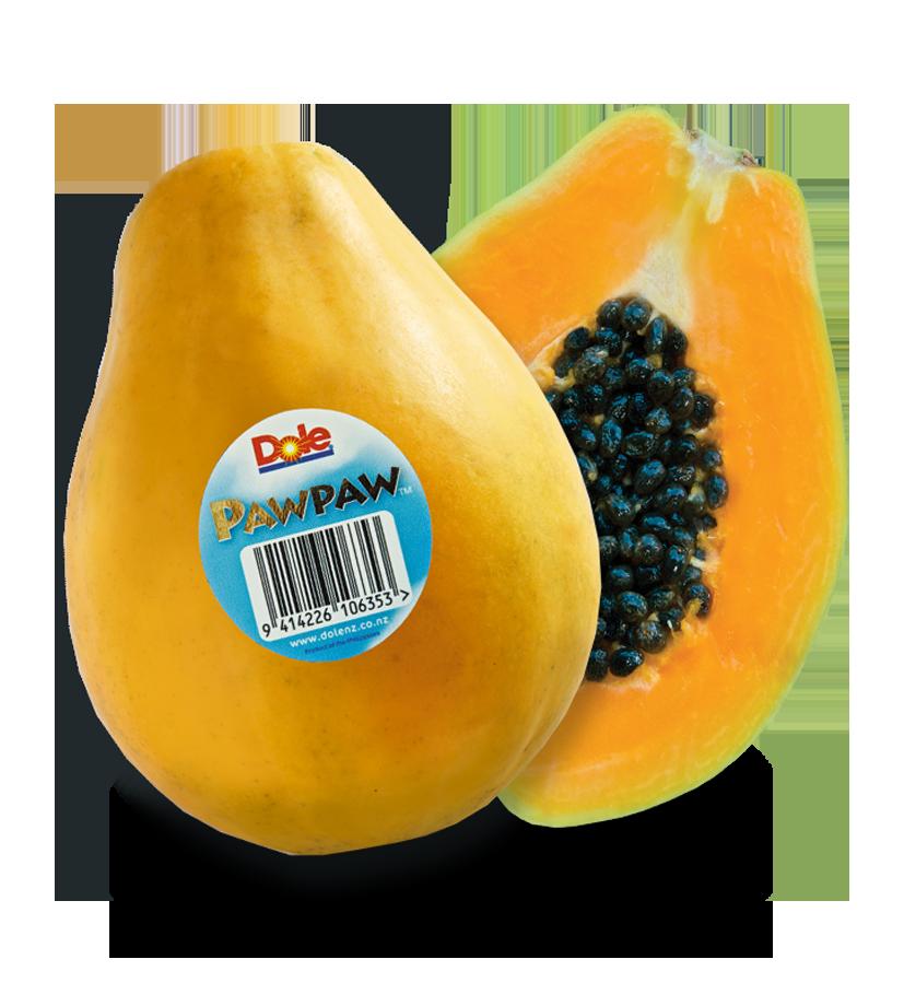 Dole nz pawpaw. Orange clipart papaya