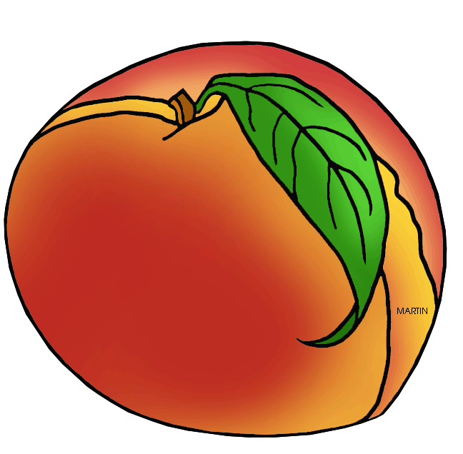 United states clip art. Clipart fruit peach