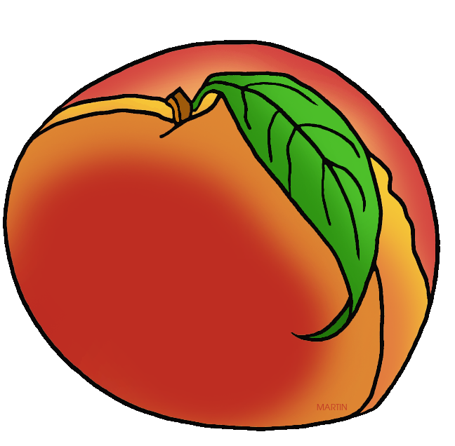 Clipart fruit peach. United states clip art
