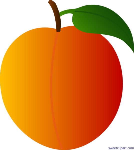 Clipart fruit peach. Sweet clip art page