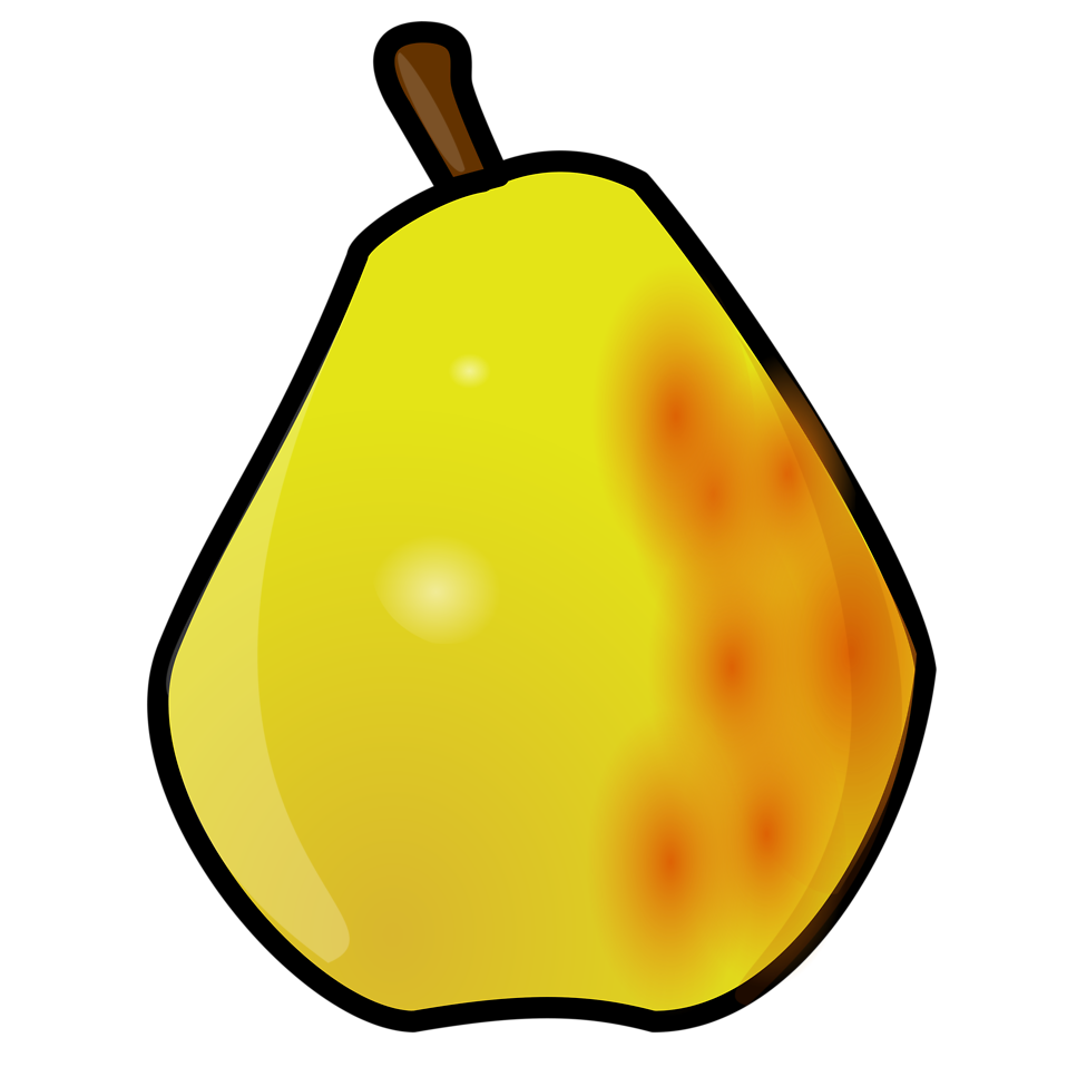Free stock photo illustration. Pear clipart pear fruit