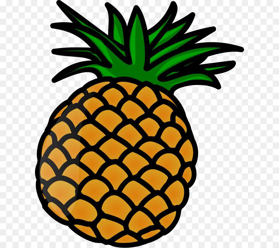 Pineapple clipart fruite. Cartoon ananas fruit