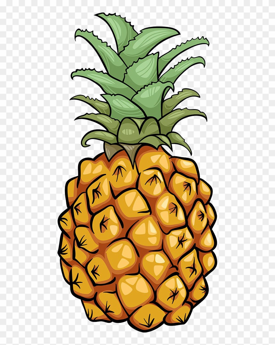 Pineapple clipart fruite. Fruit icon cartoons