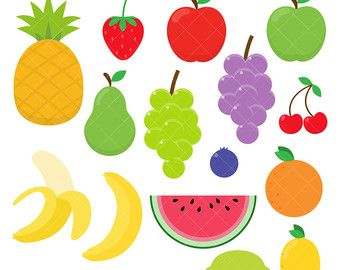 Clipart fruit printable. Watermelon garland bunting by