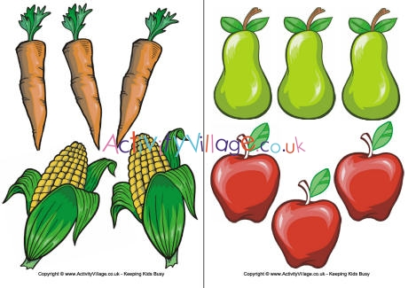 And vegetable . Clipart fruit printable
