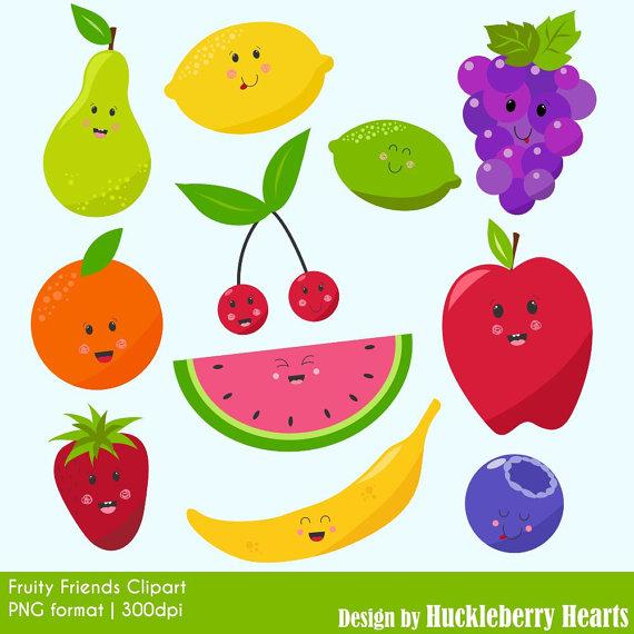 Digital graphics . Clipart fruit printable