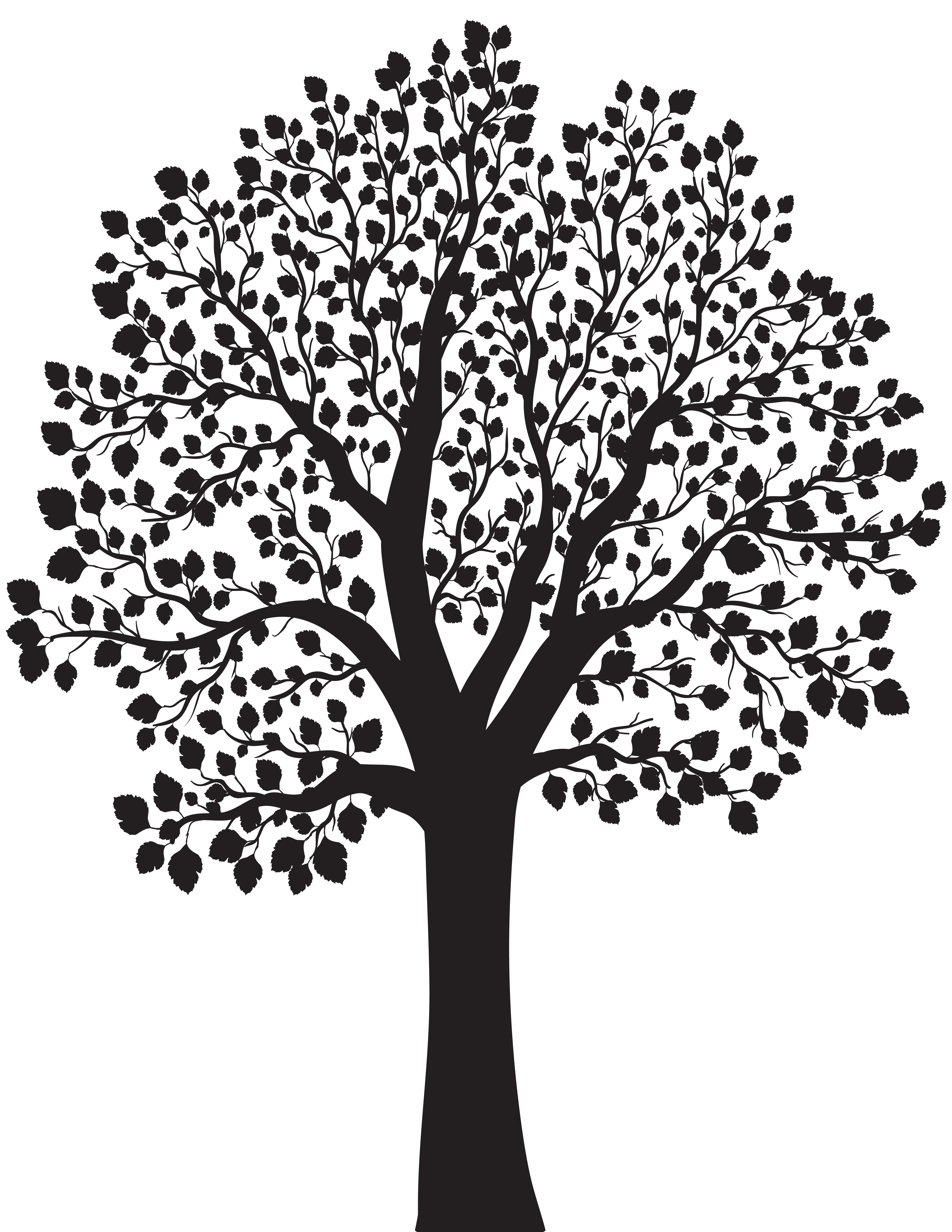 Tree png clip art. Clipart fruit silhouette