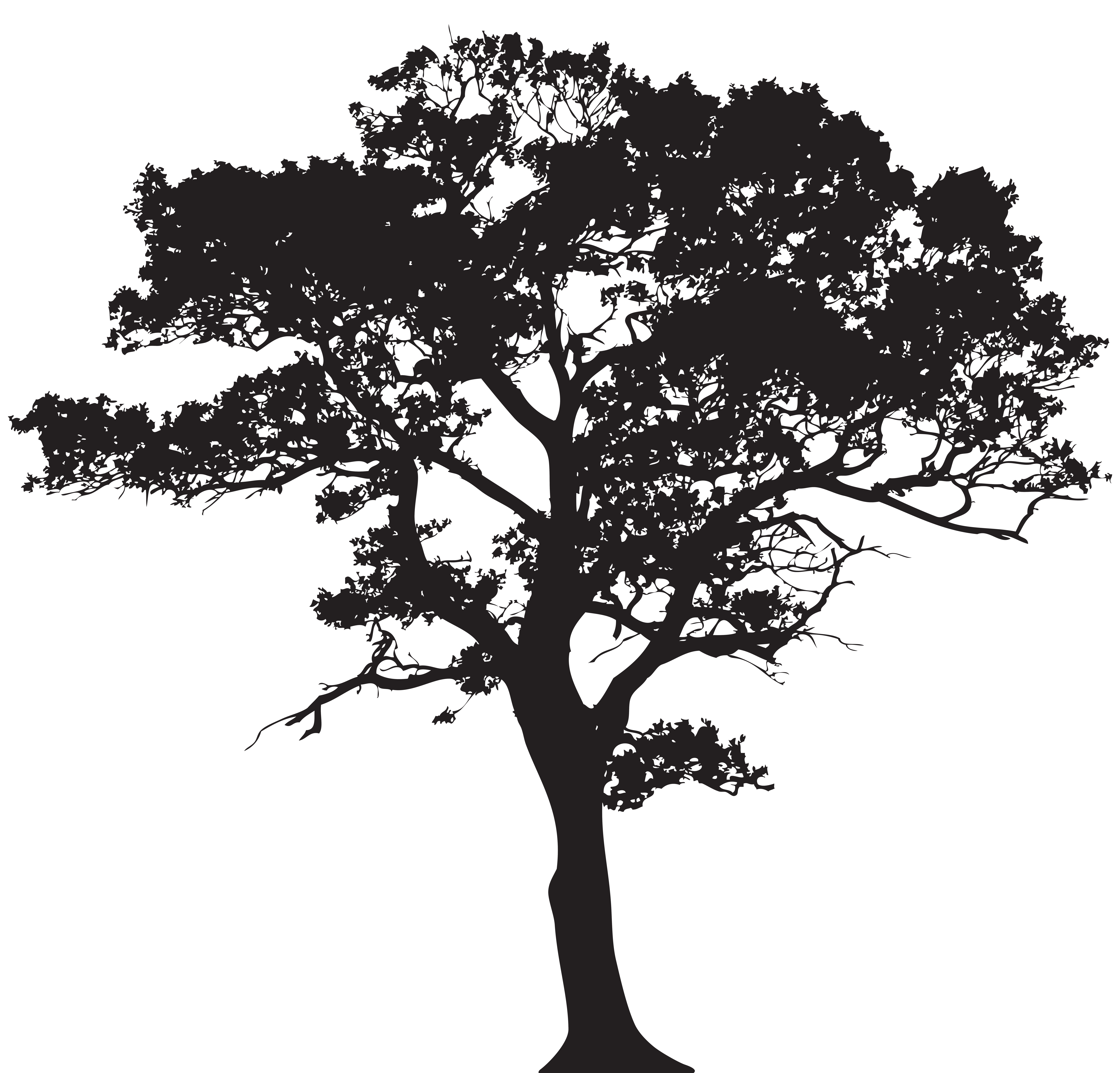 Tree png clip art. Fruits clipart silhouette