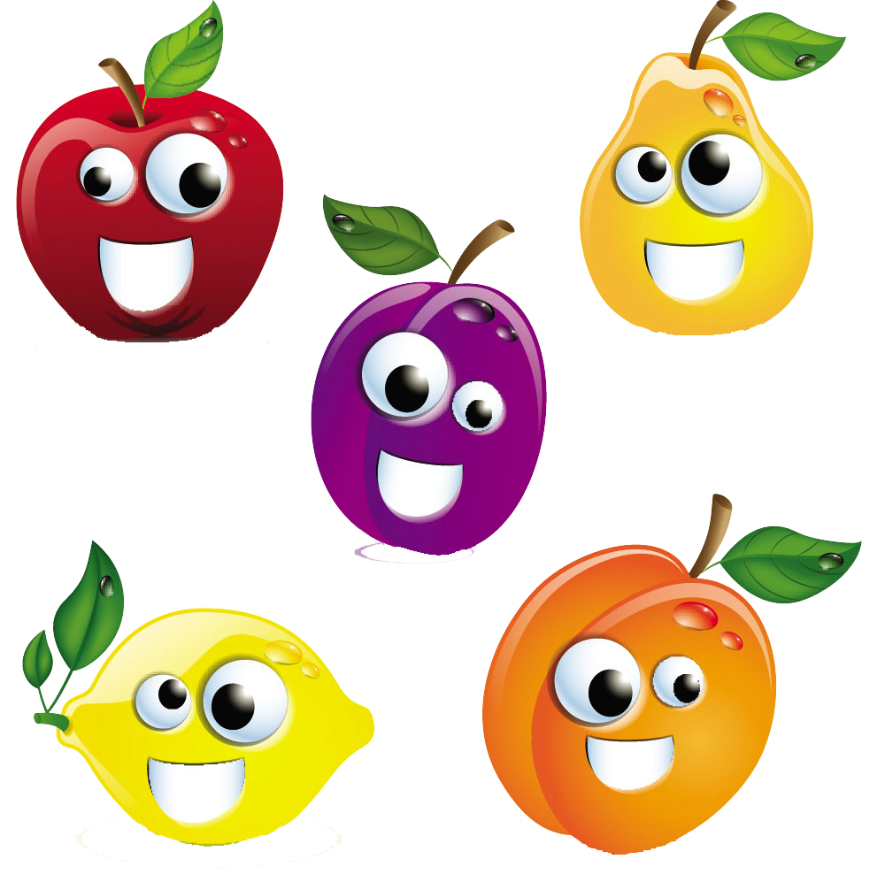 Cartoon royalty free stock. Pomegranate clipart smiley fruit