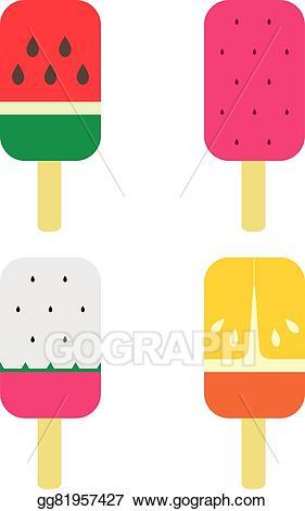 Fruit clipart stick. Vector stock set of