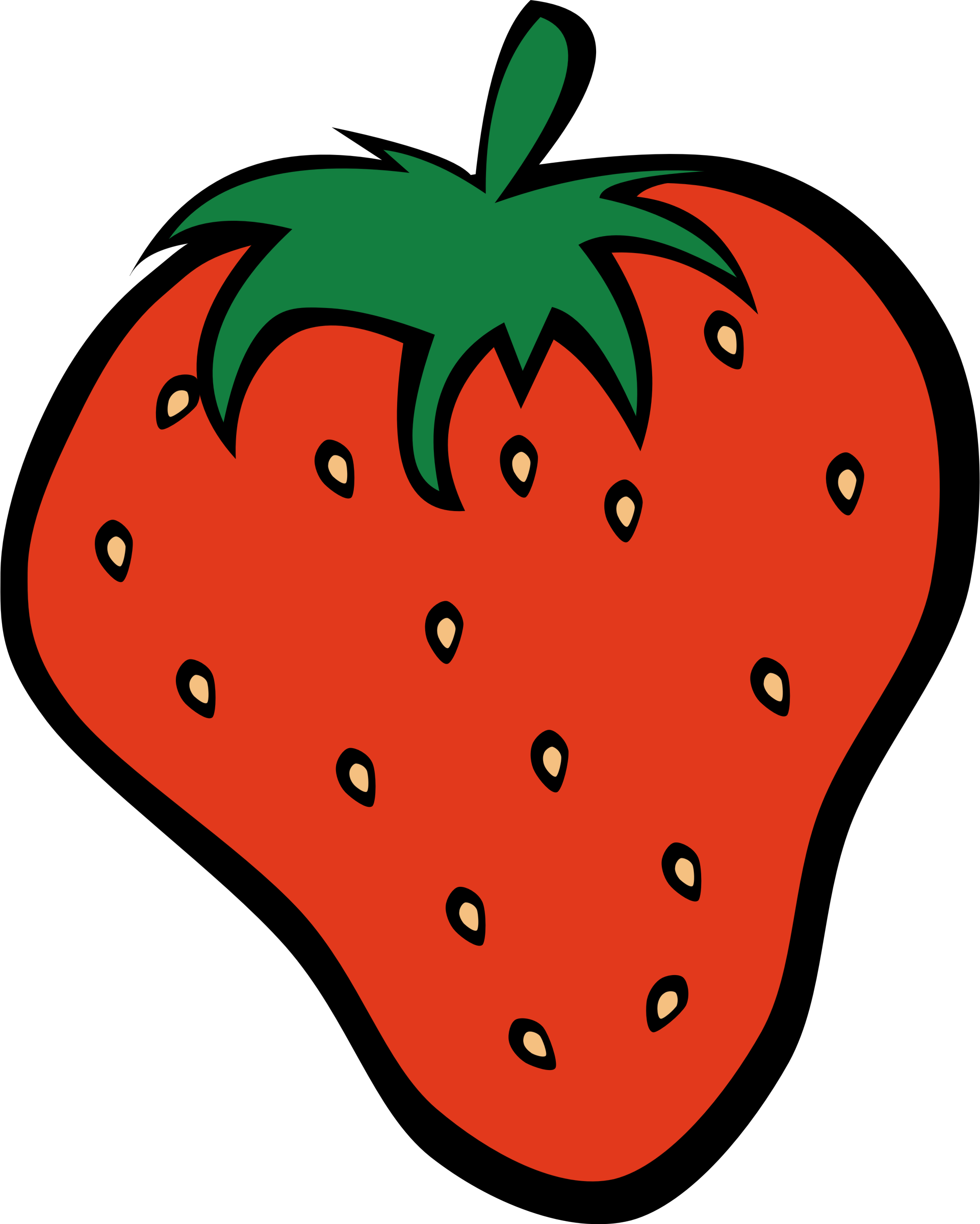 Clipart fruit strawberry. Simple big image png