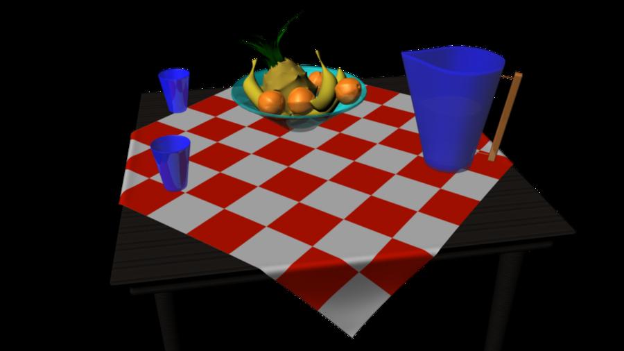 d fruit bowl. Clipart table 3d table