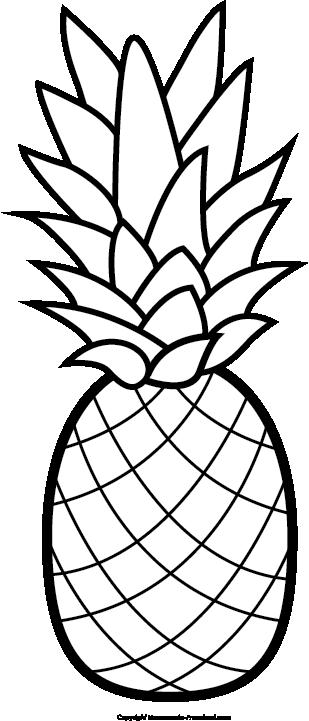 Pineapple clipart template. Free clip art hair