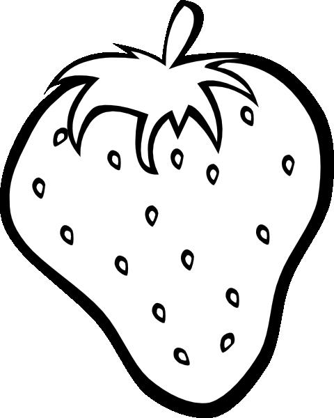 Outline strawberry clip art. Fruit clipart template
