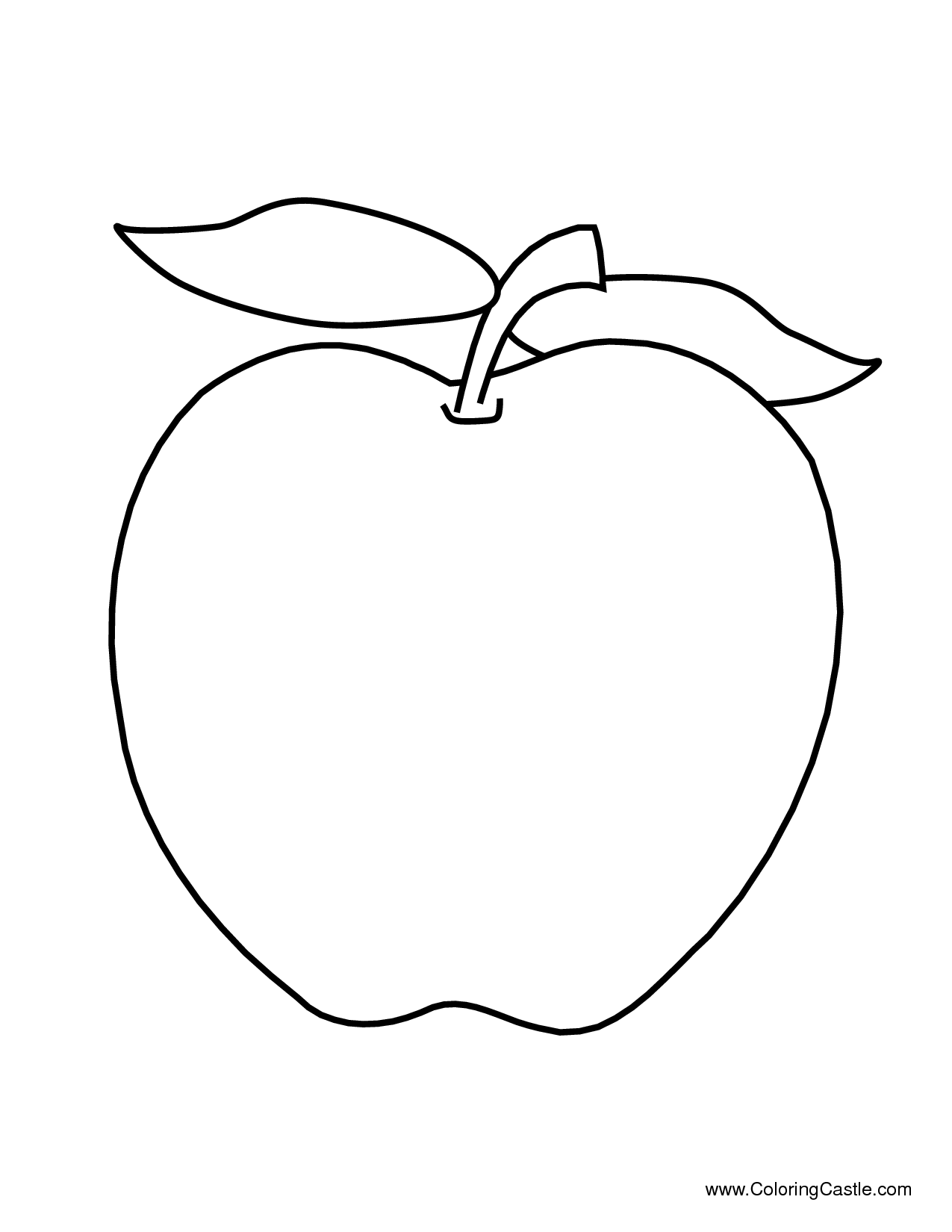 Fruit clipart template. Free coloring pages of