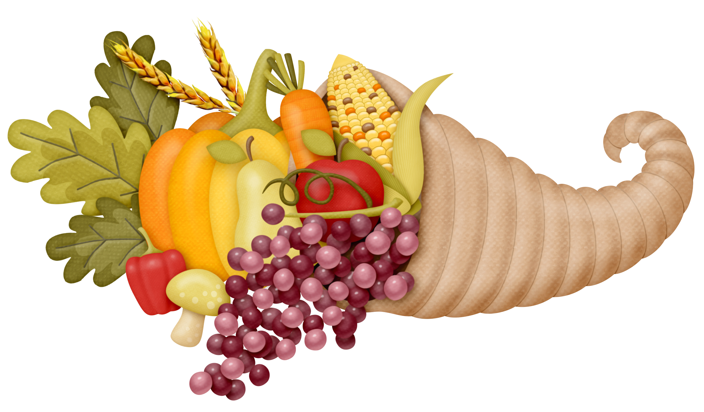 Fruit clipart thanksgiving. Cornucopia png picture gallery
