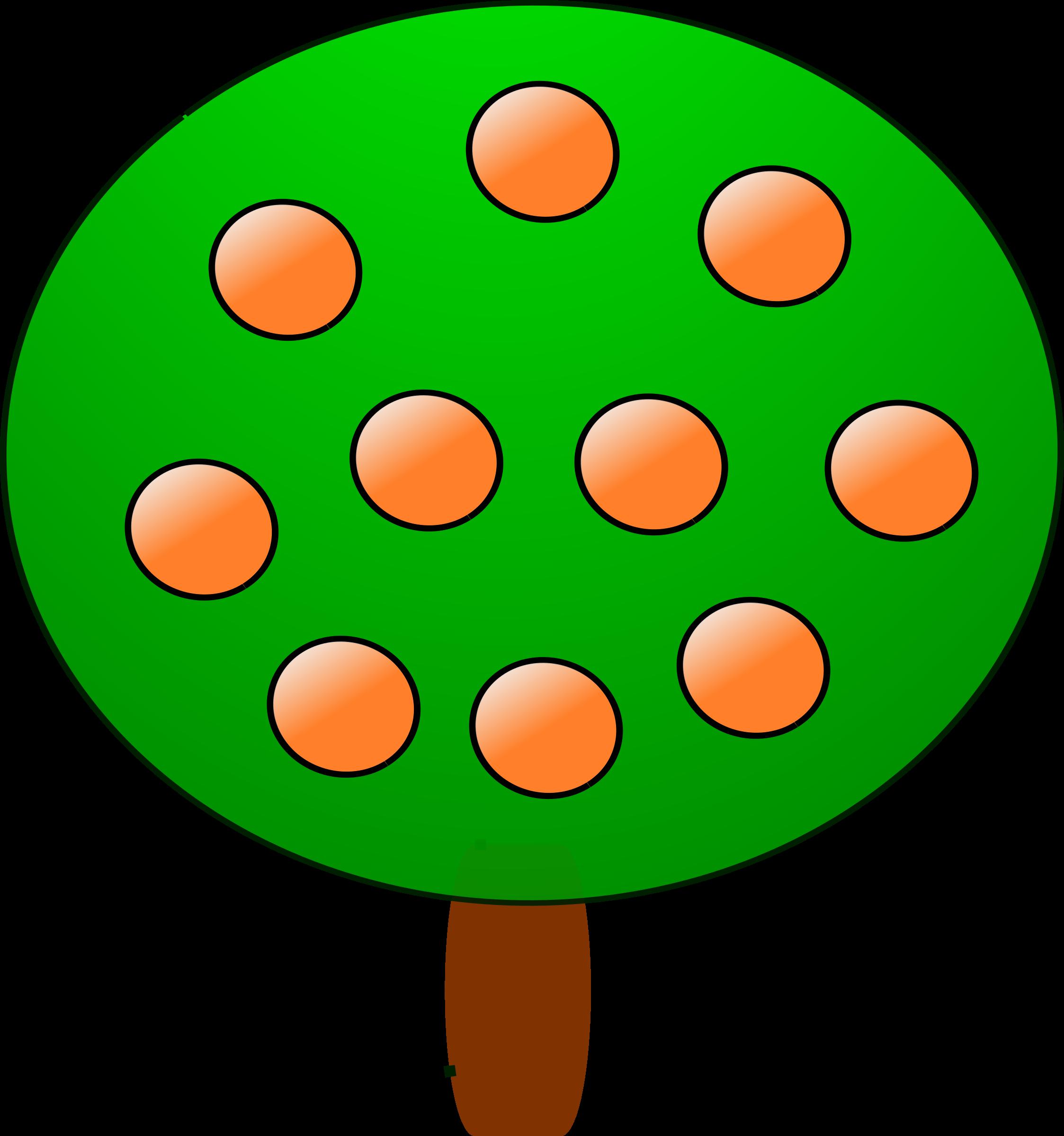 Orange big image png. Fruit clipart tree