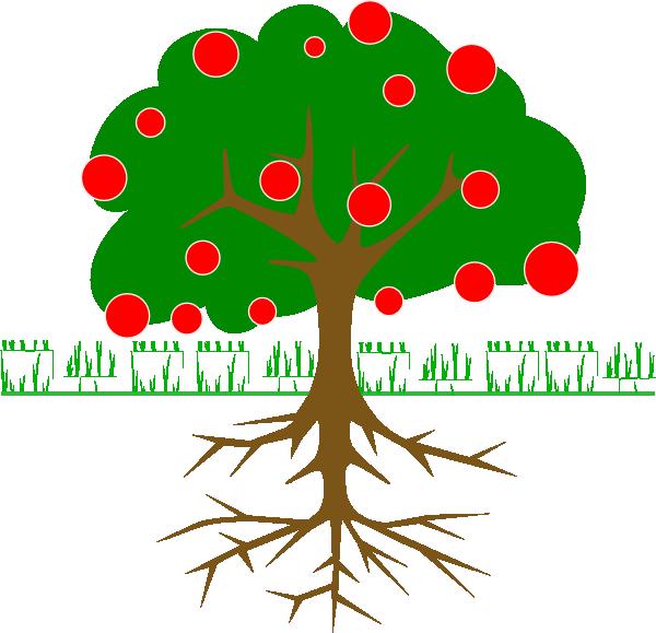 Tree clip art at. Fruit clipart green fruit