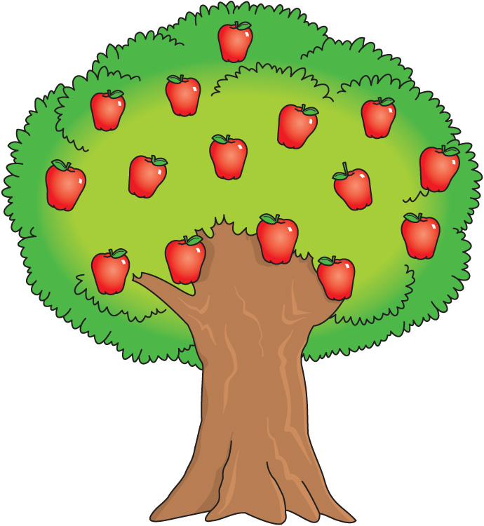 Free images apple download. Clipart trees fruit